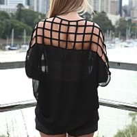 LATTICE BACK TOP , DRESSES, TOPS, BOTTOMS, JACKETS & JUMPERS, ACCESSORIES, SALE, PRE ORDER, NEW ARRIVALS, PLAYSUIT, Australia, Queensland, Brisbane