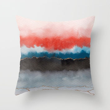Improvisation 05 Throw Pillow by vivigonzalezart