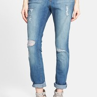 Women's Kiind of 'Artful' Distressed Relaxed Jeans ,