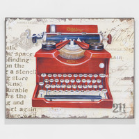 Red Typewriter Wall Décor