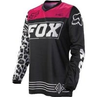 Fox Racing HC Pee Wee Kids Girls Motocross Motorcycle Jerseys - Black/Pink - Small