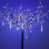 OMGAI Upgraded LED Meteor Shower Rain Lights,Drop/Icicle Snow Falling Raindrop 30cm 8 Tubes Waterproof Cascading lights for Wedding Xmas Home Decor - Cool White,US plug