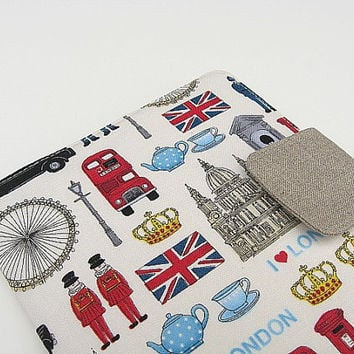 Nook Simple Touch Cover iPad Mini Cover Kindle Fire Cover Kobo Cover Case London England Great Britain eReader