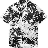 Saint Laurent - Palm-Print Cotton Shirt | MR PORTER
