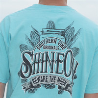 Southern Vine Originals Shine On Mason Jar Beware of the Moon Moonshine Unisex Lagoon Bright T Shirt