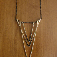 Layered V Pendant Necklace