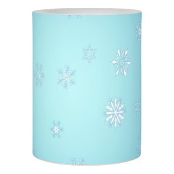 White Snowflakes Flameless Candle