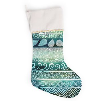 "Pom Graphic Design ""Dreamy Tribal"" Christmas Stocking"