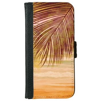 Beautiful Tropical Island iPhone 6/6s Wallet Case