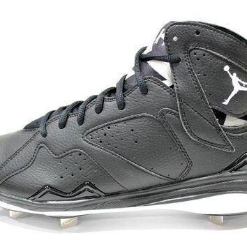DCKL9 Jordan Men's Retro 7 Metal Black/White Baseball Cleats 684943 010