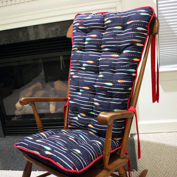 Cotton and Steel Arrows Custom Rocking Chair Cushions