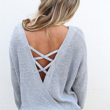 Back To Life Lightweight Knit {Gray}