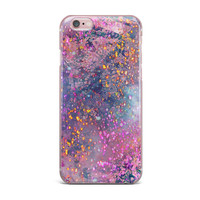 "Marianna Tankelevich ""Pink Universe"" Pink Purple iPhone Case"