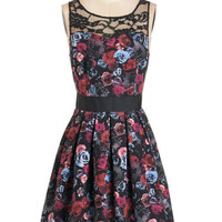 Soiree Stunner Dress in Roses