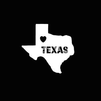 Texas State Decal Texas Love car vehicle auto window decal custom sticker laptop decal computer decal