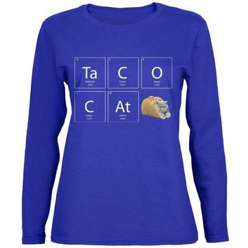 CREYCY8 Taco Cat Periodic Table Womens Long Sleeve T Shirt
