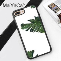 MaiYaCa BANANA LEAF TUMBLR FLORAL CUTE Soft TPU Skin Cell Phone Cases For iPhone 6 6S Plus 7 8 Plus 5 5S SE X Back Cover Shell