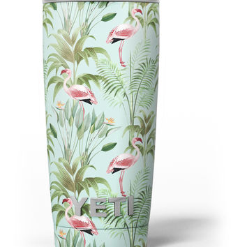 The Tropical Flamingo Scene Yeti Rambler Skin Kit