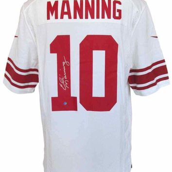 LMFONY Eli Manning Signed Autographed New York Giants Football Jersey (Steiner COA)