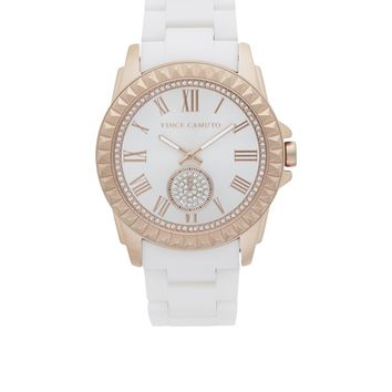 Vince Camuto Rosegold & White Ceramic Watch