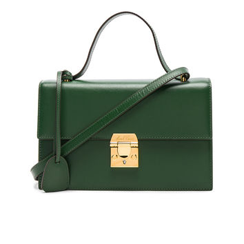 Mark Cross Cross Grain Downtown Bag in Leaf Green | FWRD