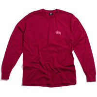 Basic Stussy Longsleeve T-Shirt Grape