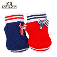 Dog Clothes New 2014 Christmas Sweaters For Dogs Small Pets Clothing Red Coats Dog Clothes Brand Cotton Knitted Clothing HP248