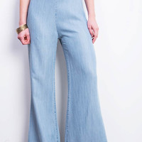 Vintage High Waist Wide Leg Pants