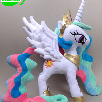 Princess Celestia Princess Luna Twilight Sparkle Plush Pets Horse Unicorn Model Poni Figures Kids Toys Christmas gift
