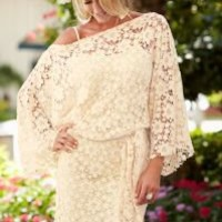 Belted lace dress in the VENUS Line of Dresses for Women