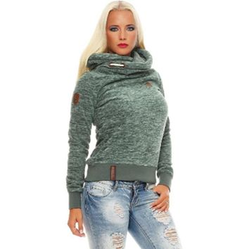 Long Sleeve Slim Casual Hooded Pullover  Sweatshirt