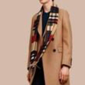 ESBON Burberry Cashmere Check Scarf in Block