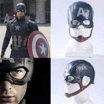 Movie Captain America 3 Civil War Captain America Mask Steven Rogers Superhero Cosplay Accessories Masks Helmets Party Halloween