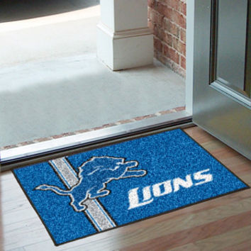 "NFL - Detroit Lions Uniform Inspired Starter Rug 20""x30"""