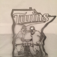 Minnesota Twins Metal Art, twins wall art