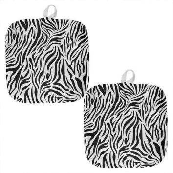 PEAPGQ9 Zerba Pattern All Over Pot Holder (Set of 2)