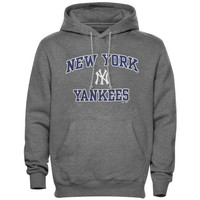 Majestic New York Yankees Heart and Soul Pullover Hooded Sweatshirt - Ash