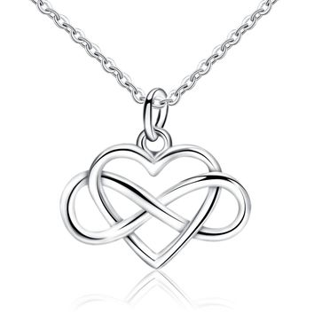 Infinity Heart 925 Sterling Silver Pendant