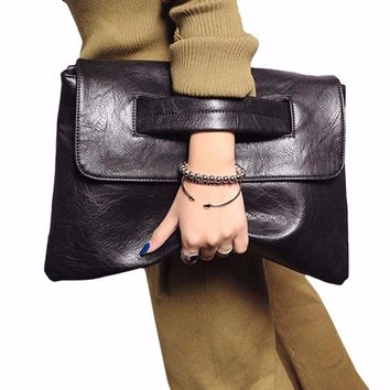 Women's Envelope Clutch Bag Leather Women