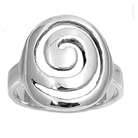 925 Sterling Silver Wicca Pagan Rebirth Symbol 19MM Ring