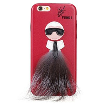 Fendi Karlito Red Case for iPhone 6/6S 18926689