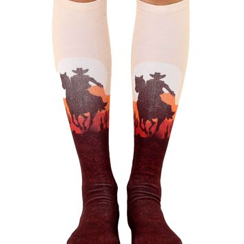 Cowboy Sunset Knee High Socks