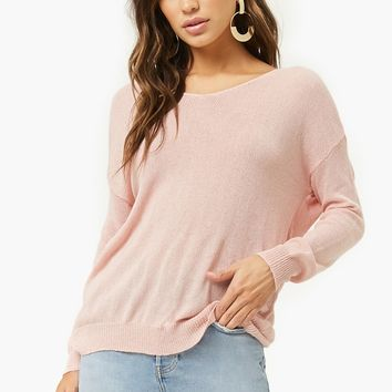 Open Twist-Back Sweater