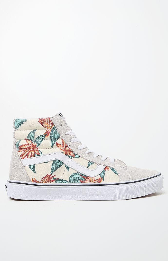 Vans Vintage Aloha SK8-Hi Reissue Shoes - Mens Shoes - White White 716097376
