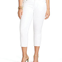 Lauren Ralph Lauren Plus Cropped Twill Straight Pants - White