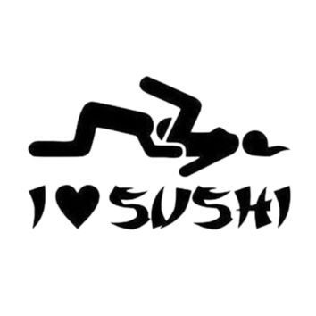 Car accessories High Quality I Love Sushi Car Sticker Windshield Truck Door Decal Vinyl Funny Stance Daily Driven