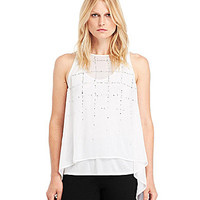 Kenneth Cole New York Philippa Layered Blouse - White