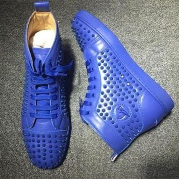 CREYNW6 Cl Christian Louboutin Louis Spikes Style #1854 Sneakers Fashion Shoes