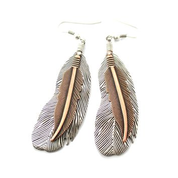 Realisitc Feather Shaped Bohemian Chic Dangle Earrings | DOTOLY