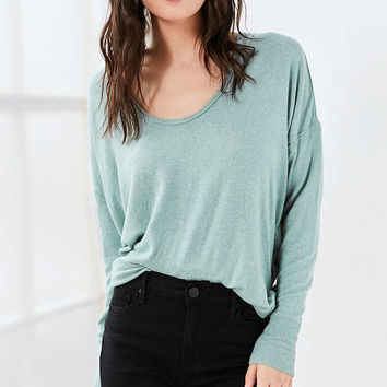 Out From Under Ava Cozy Scoop Neck Top - Urban Outfitters